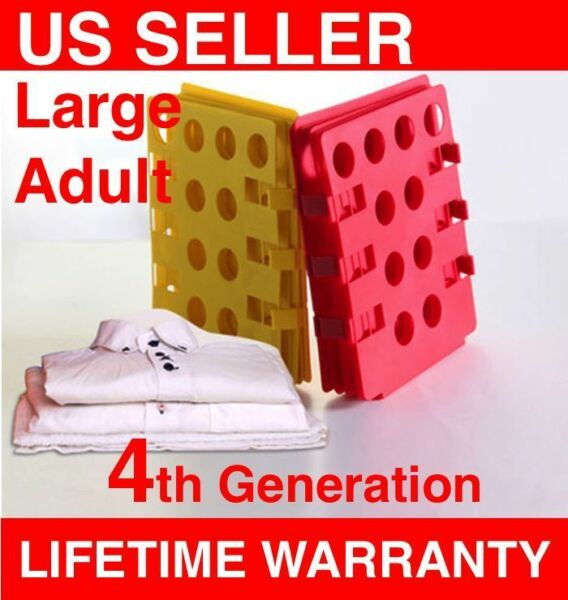 H41 LARGE Adult T Shirts Folding Board 5th Generation Magic Fast Folder Clothes