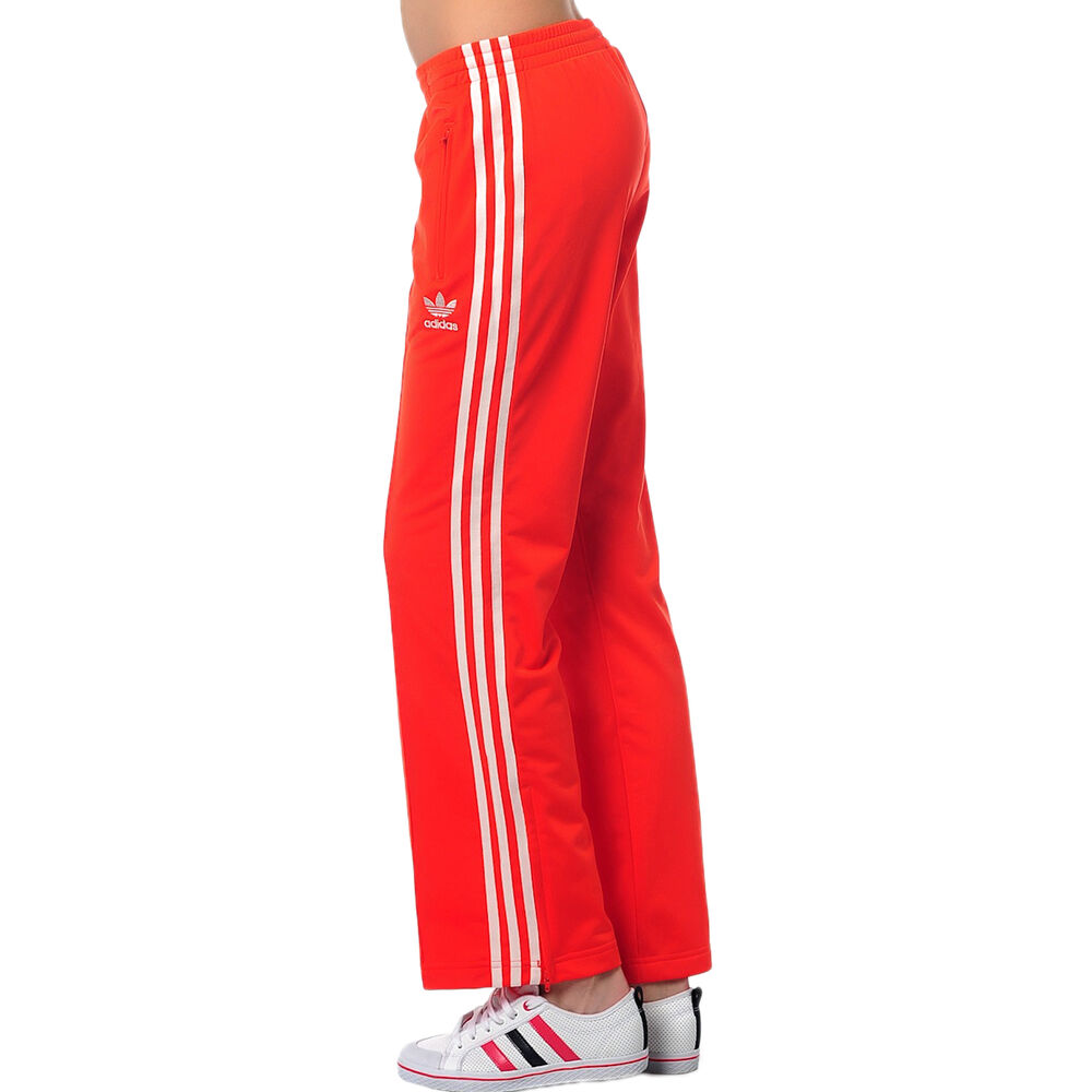 6b38e7546fc Details about adidas Originals Womens Firebird Track Pant 3 Stripe Tracksuit  Bottoms Red