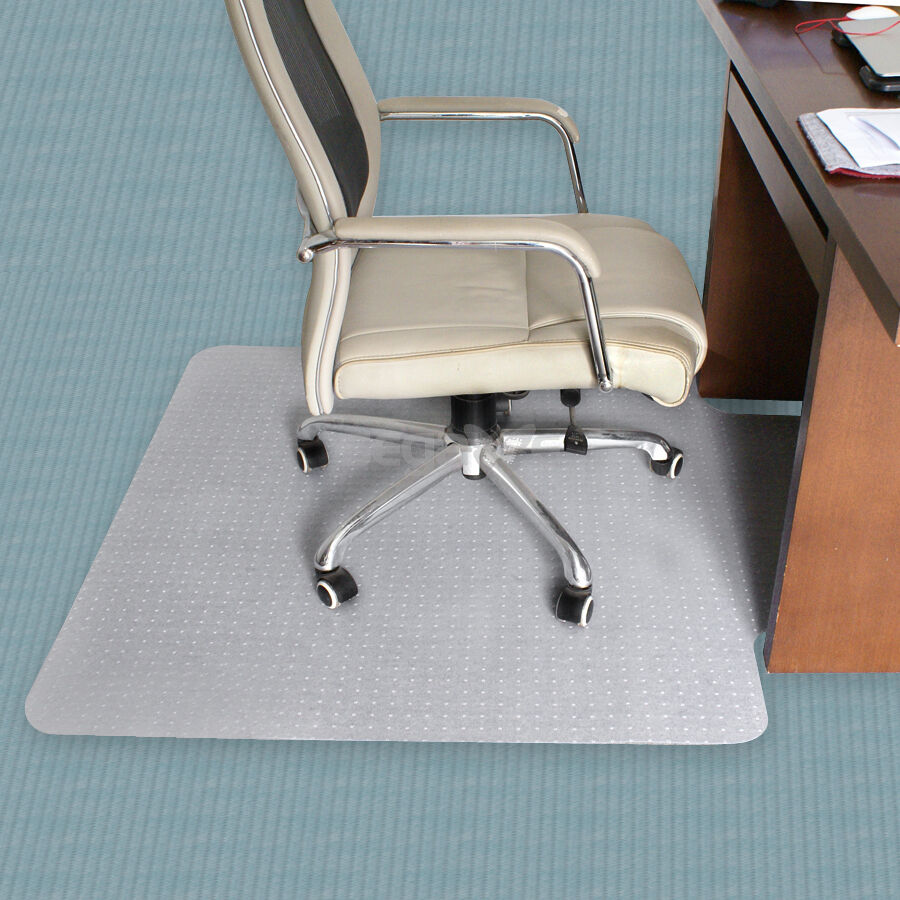 office study chair floor mat pvc with 3mm thickness for pile carpet 48