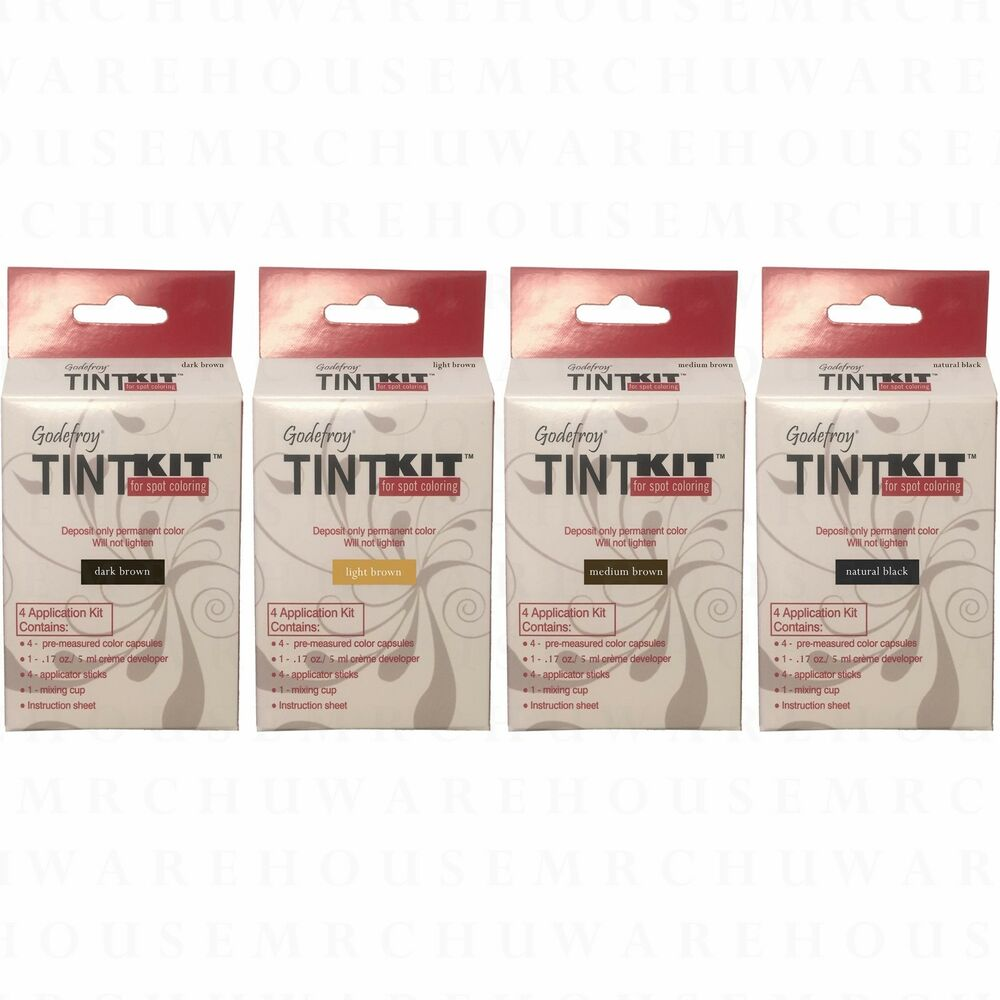Godefroy tint kit cream eyebrow facial hair color 4 for Cathy doll real brow 4d tattoo tint