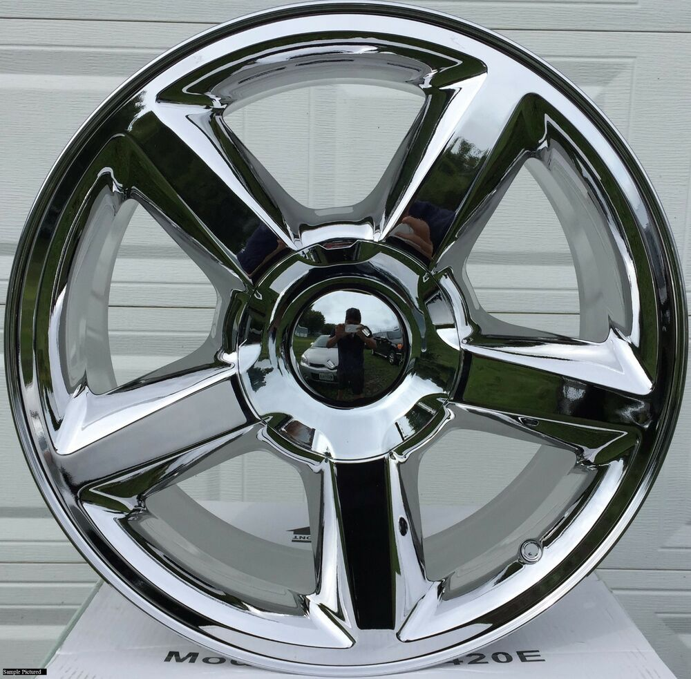 4 new 20 quot wheels rims for chevy tahoe suburban silverado 1500 chrome 1548 ebay