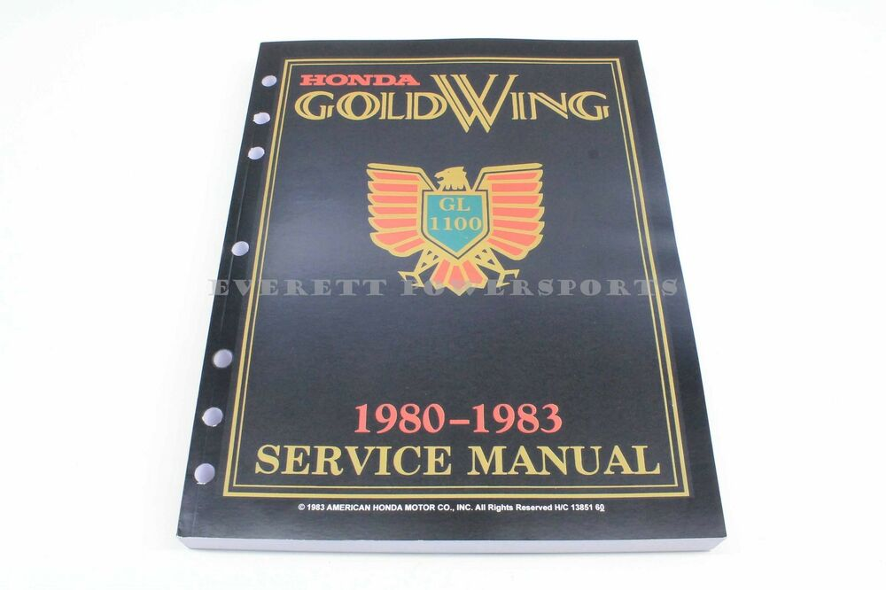 new honda service manual gl1100 honda goldwing shop repair book gold rh ebay com 1983 honda goldwing aspencade service manual 1986 goldwing service manual
