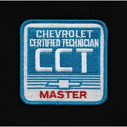 VTG STYLE CHEVROLET CERTIFIED TECHNICIAN CCT MASTER Automotive Collectors Patch