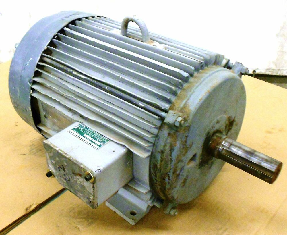 Unknown brand motor 15 hp 230 460 volts 254t frame 3 for 15 hp 3 phase motor
