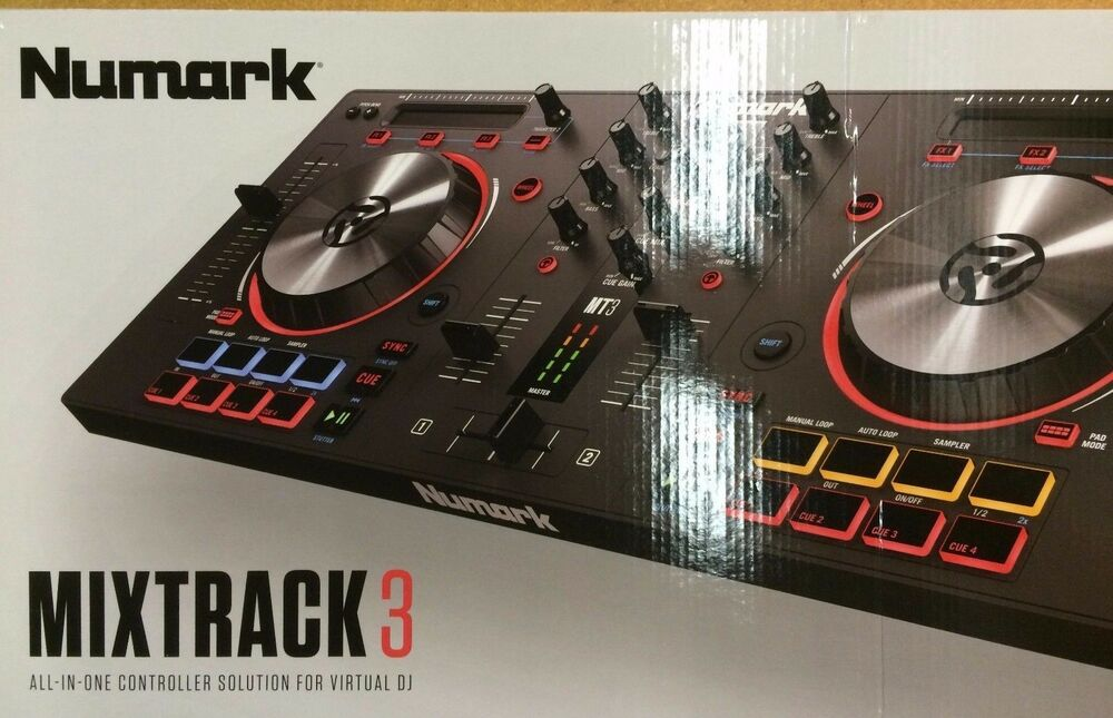 numark mixtrack 3 all in one controller solution for virtual dj 676762191616 ebay. Black Bedroom Furniture Sets. Home Design Ideas