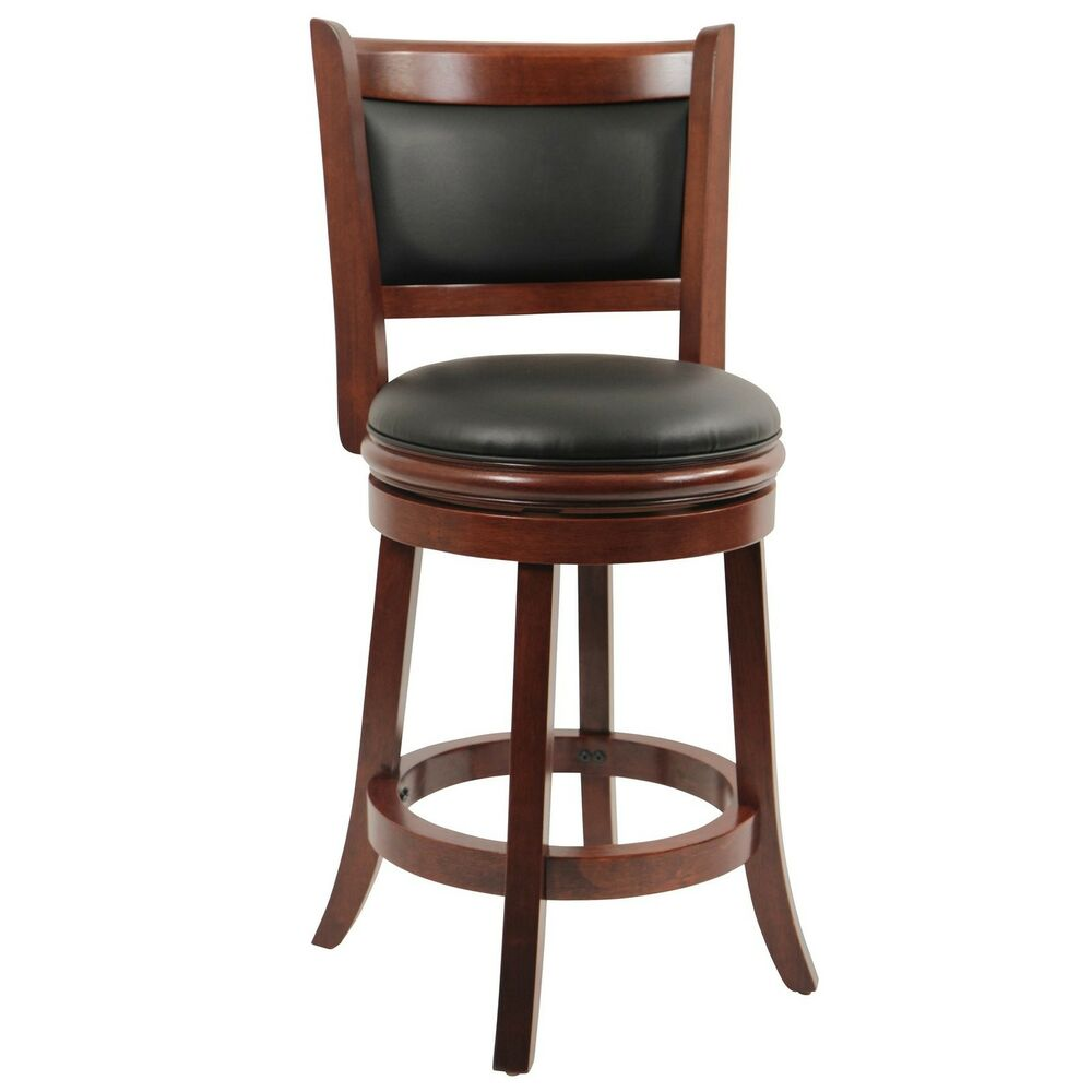 Swivel Counter Stool Bar Stool High Chair Black Kitchen: Counter Height Bar Stool Wood Kitchen Office Swivel Stool