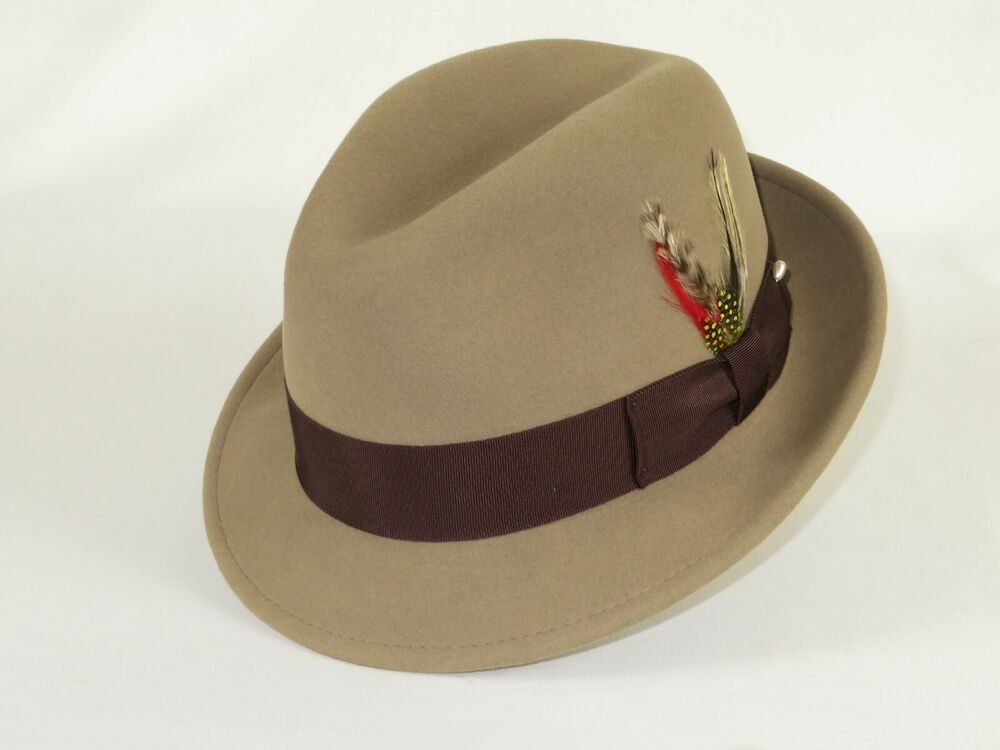1817e4a61 Men Fedora Hat BRONER Crushable Water Repellent Wool MELODRAMA Taupe ...