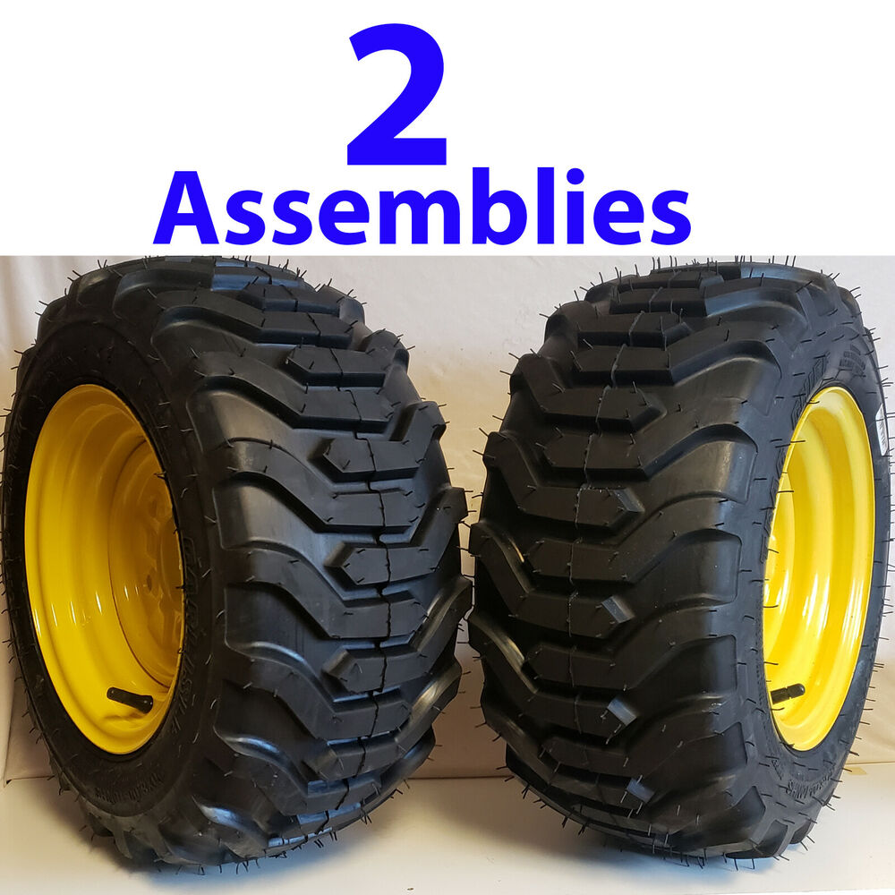Compact Tractor Tires And Wheels : Two tire rim wheel for john deere riding mower