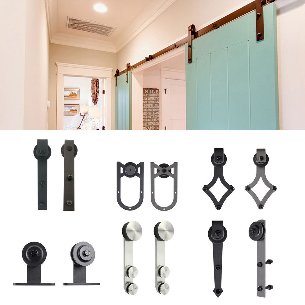 6 8 ft 10 ft carbon steel slide sliding barn door hardware