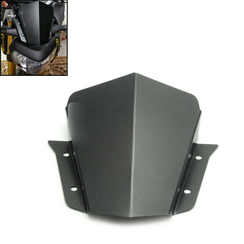 mt09 mt 09 cnc aluminum windshield windscreen for yamaha. Black Bedroom Furniture Sets. Home Design Ideas