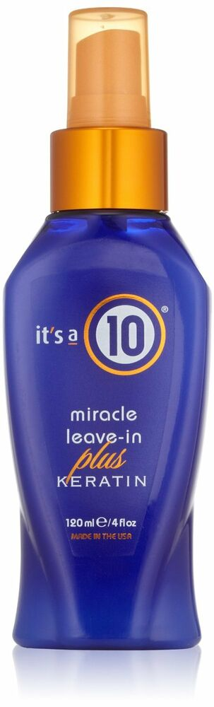 its a 10 by it 39 s a 10 miracle leave in plus keratin 4oz all hair unisex 4oz ebay. Black Bedroom Furniture Sets. Home Design Ideas