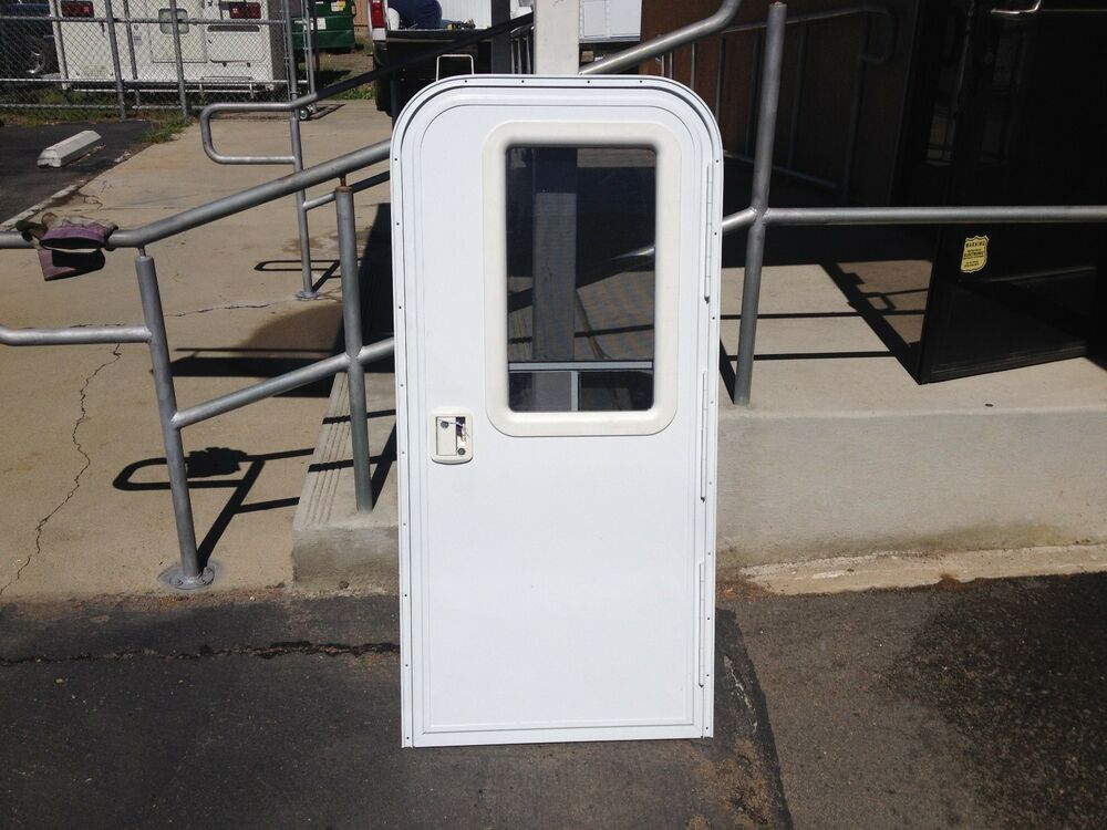 Rv Entry Door With Built In Screen Door Custom Sizes Available Ebay