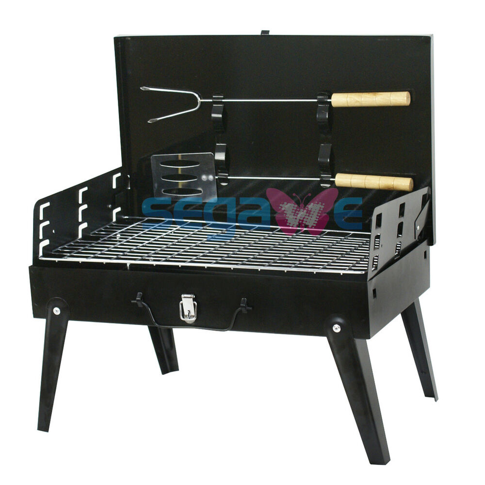 Charcoal grill portable bbq outdoor camping grilling for Outdoor kitchen barbecue grills