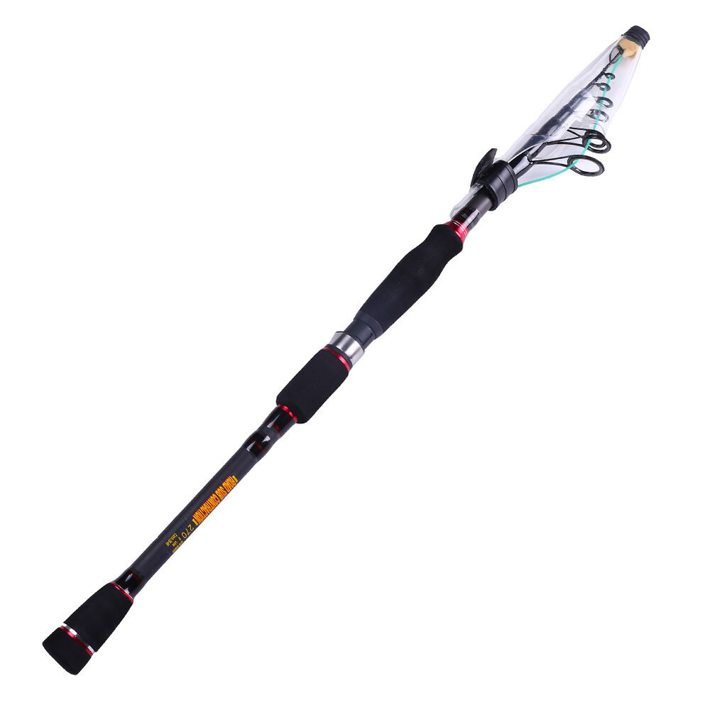 Spinning freshwater fishing rod bass carp telescopic for Telescoping fishing rod