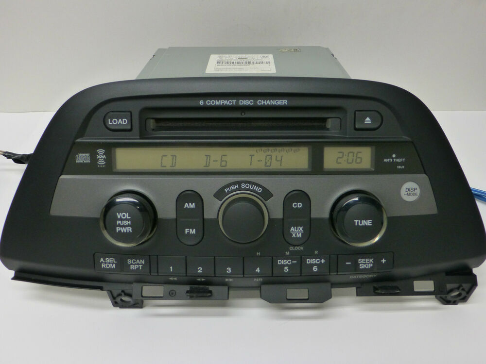Details About HONDA ODYSSEY SAT XM RADIO 6 CD Disc Changer WMA MP3 Player STEREO UNIT 08 09 10
