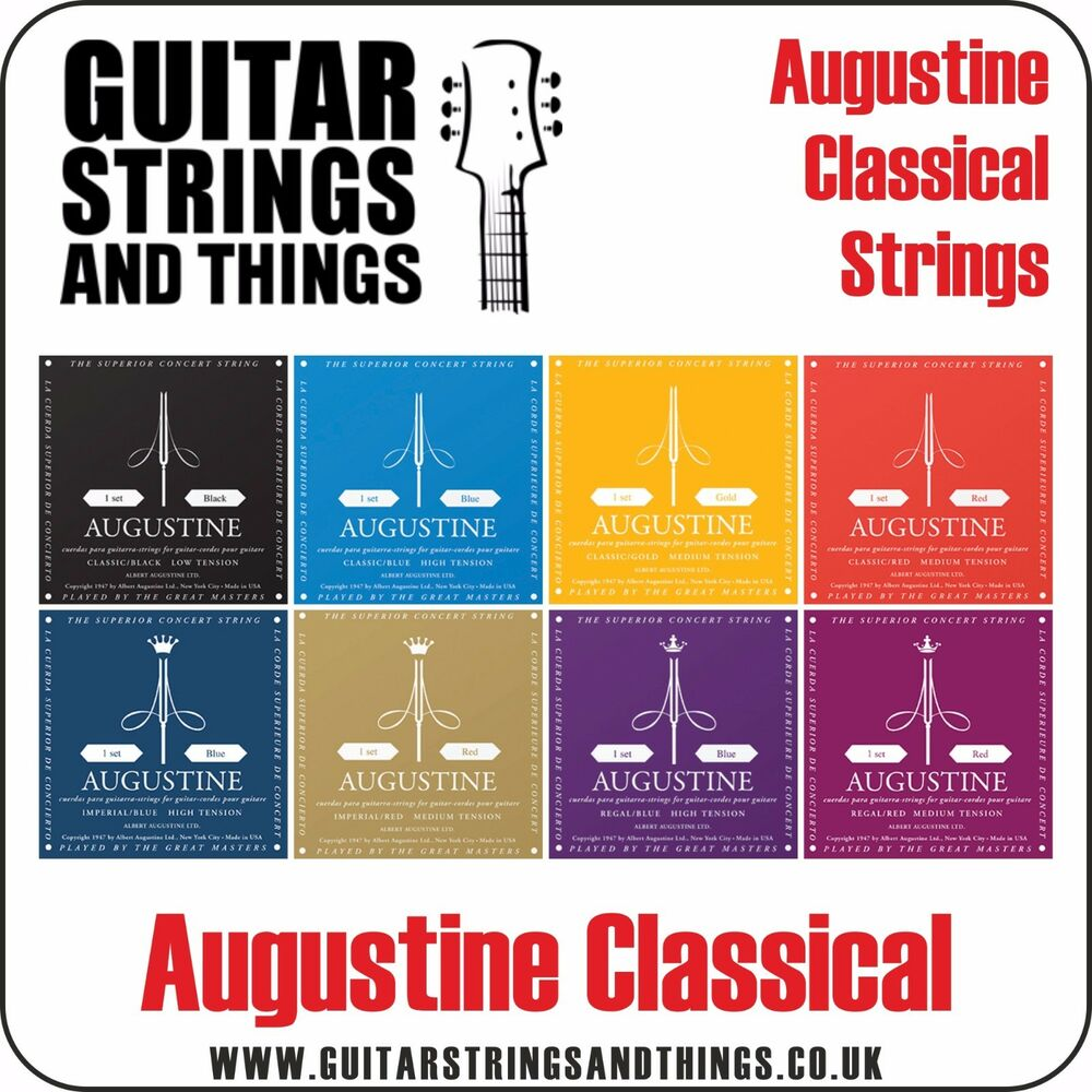 augustine classical nylon acoustic guitar strings all gauges tensions ebay. Black Bedroom Furniture Sets. Home Design Ideas