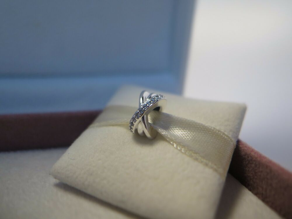 8c7ce4ebc Details about New w/Box &Tags Pandora Galaxy Spacer Clear CZ's Spacer Charm  #791994CZ S925