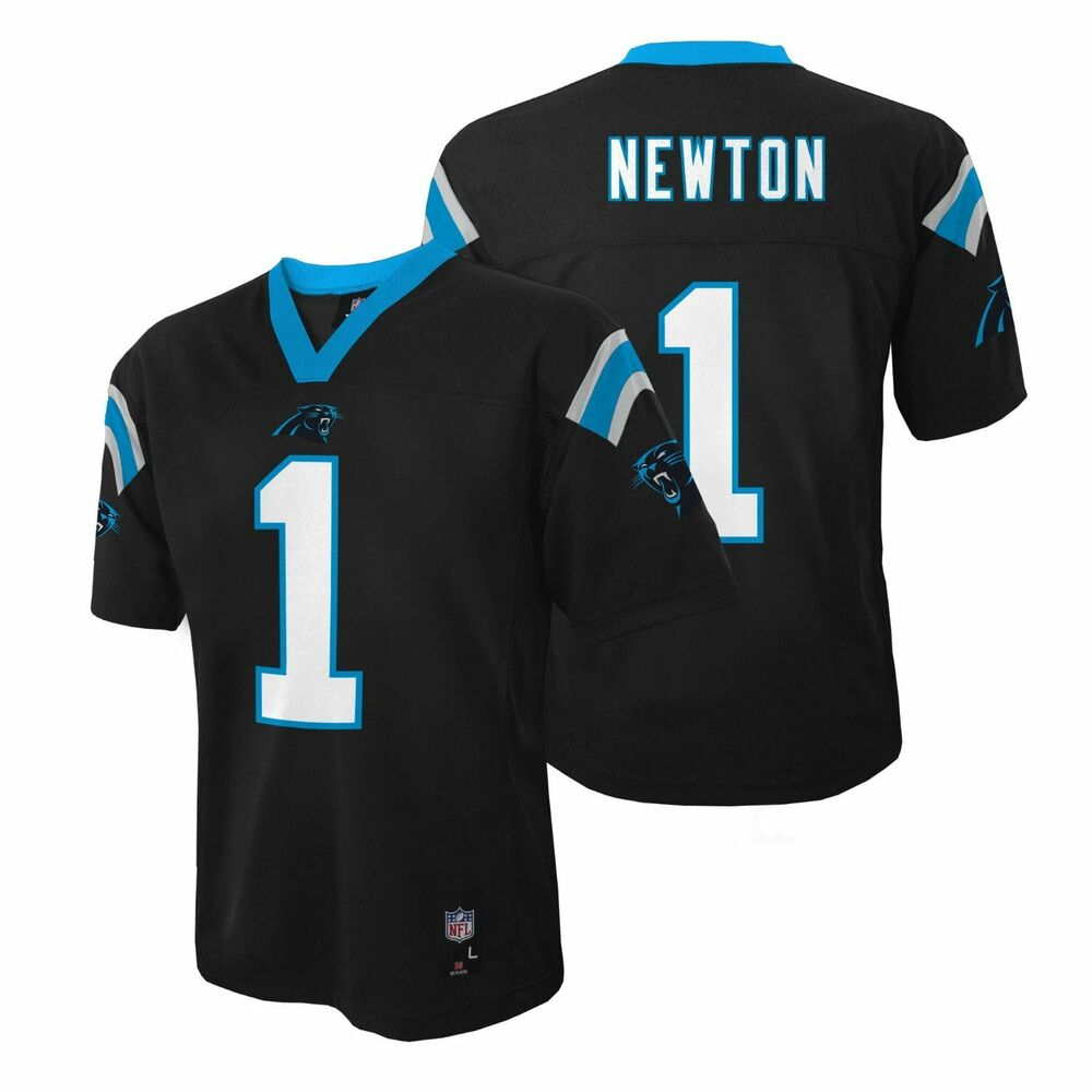 1b8d37cad85a2 Details about Cam Newton Carolina Panthers YOUTH MID TIER NFL Jersey - Black