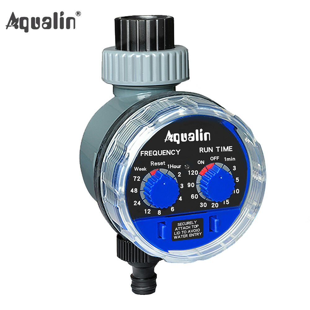 Electronic Water Hose Timer Garden Irrigation Controller Two Dial Color  Blue 613869410523 | EBay