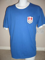 RETRO Millwall 1950/60's Embroidered Football T-Shirt