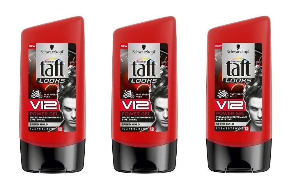 3x schwarzkopf taft looks v12 hair styling power gel turbo