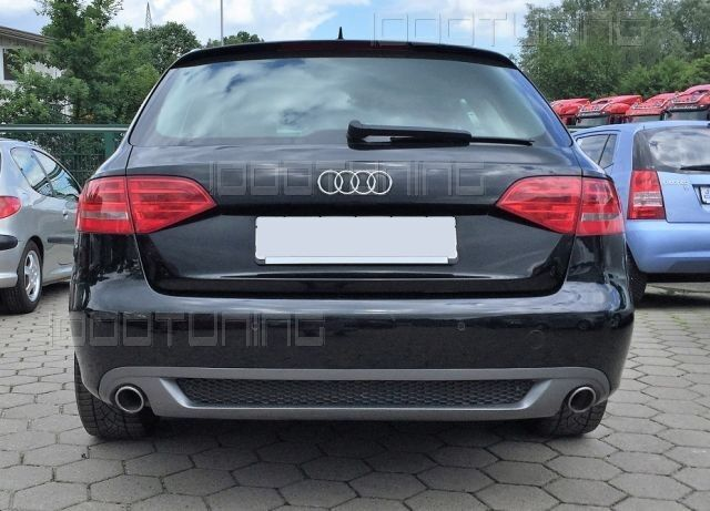 audi a4 8k b8 rear diffuser s line look sedan avant 2007 11 2011 spoiler gb ebay. Black Bedroom Furniture Sets. Home Design Ideas