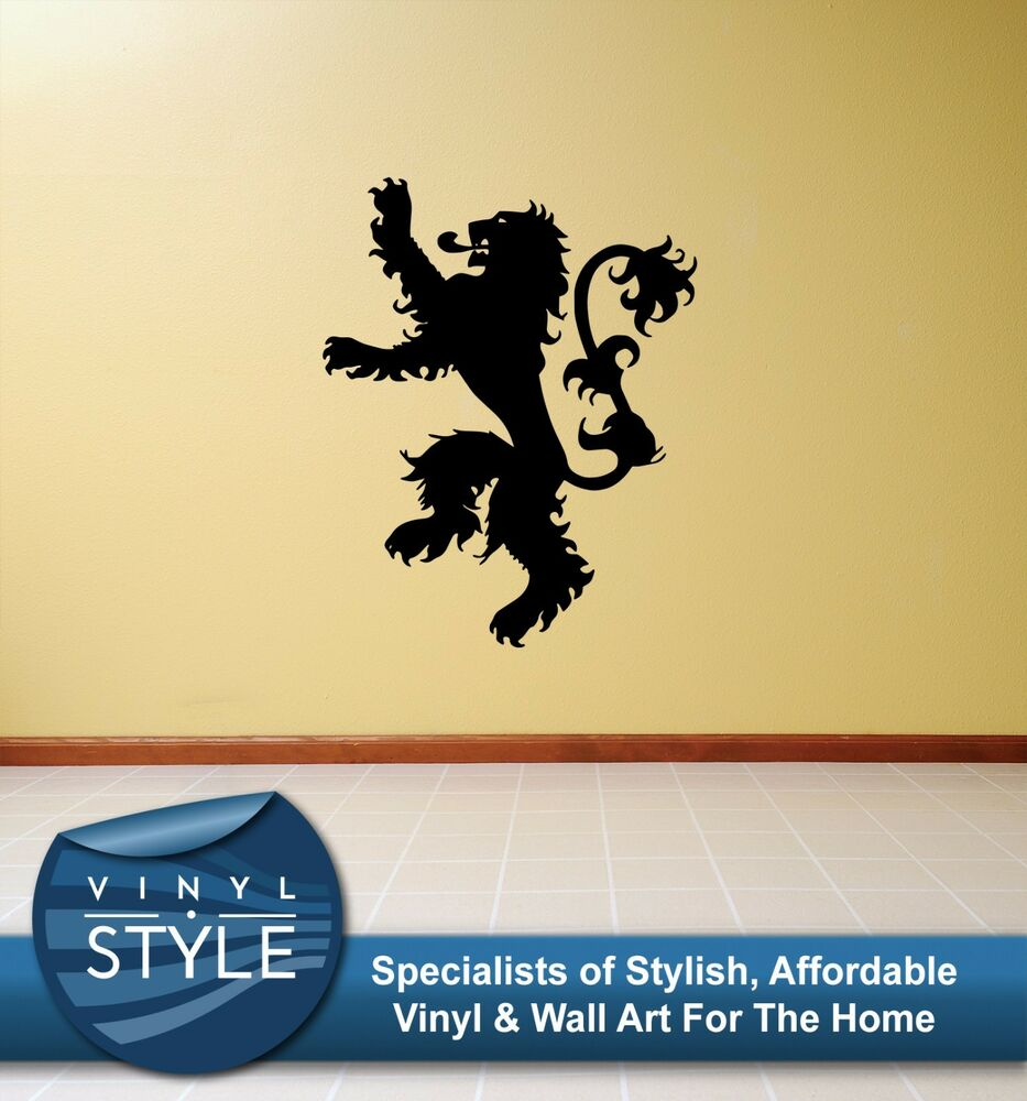 GAME OF THRONES LANNISTER LOGO LION DECAL DECOR STICKER WALL ART ...