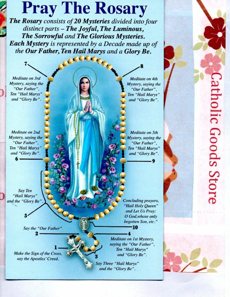 how to pray the rosary printable pray the rosary pamphlet includes all 4 mysteries ebay 22339 | s l1000