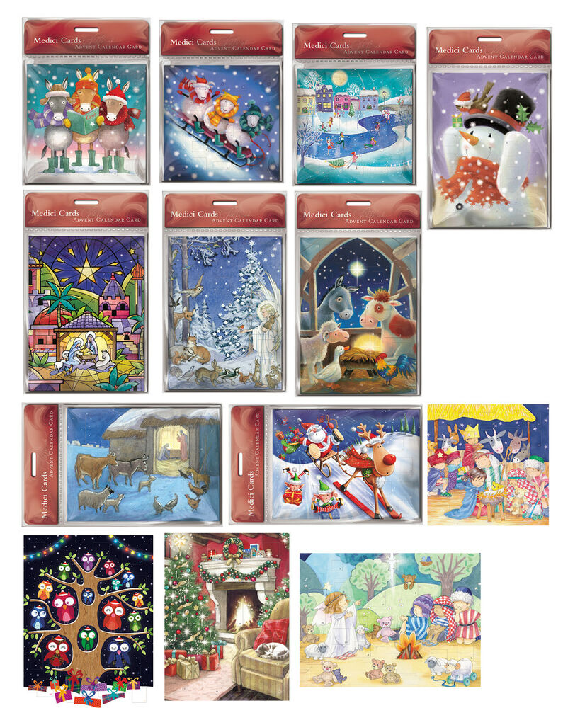 Medici Advent Calendars cards