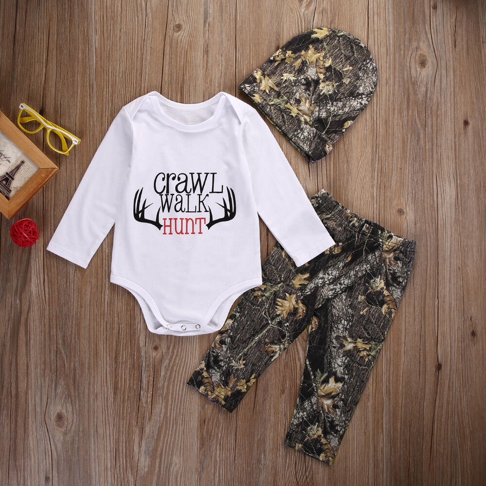 newborn baby boy girl clothes tops romper pants trousers