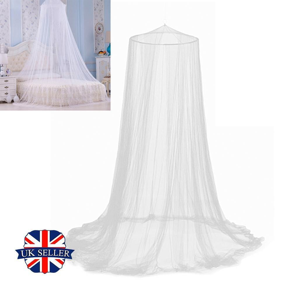 Childrens girls bed canopy mosquito fly netting net for White canopy curtains