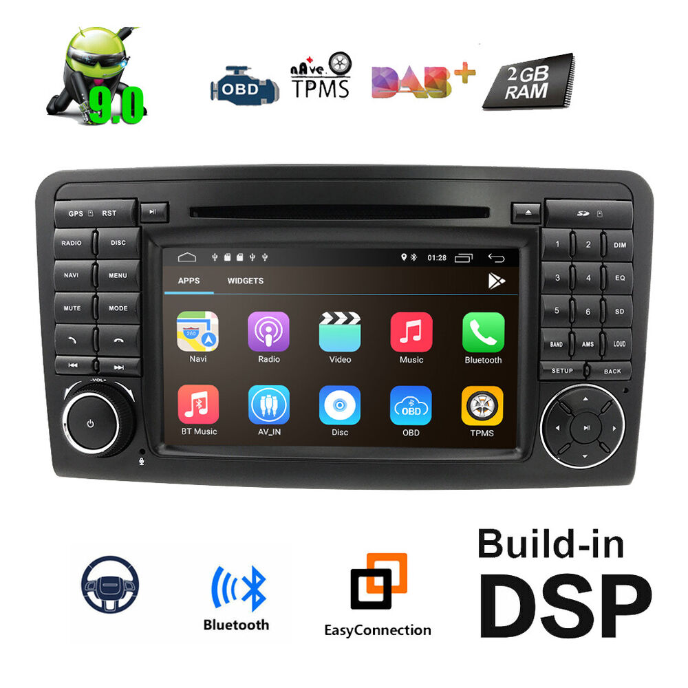 Car stereo gps navigation for mercedes benz ml gl w164 for Mercedes benz stereo