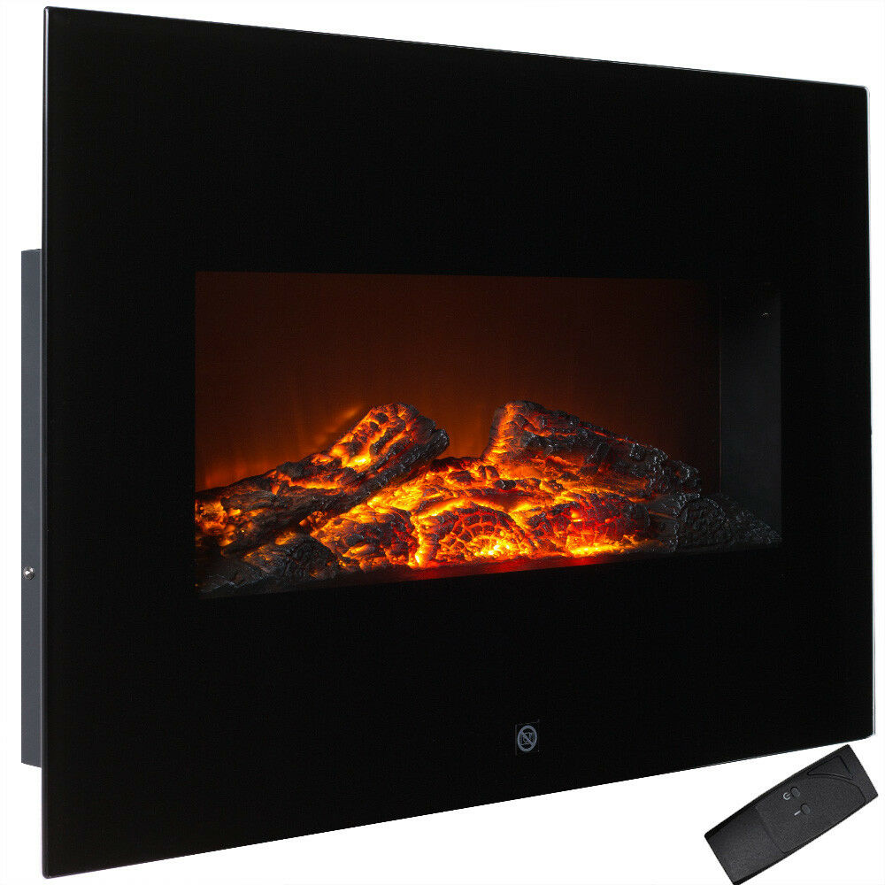 wandkamin elektrokamin elektro ofen kamin w rme feuer 1800w stahl schwarz ebay. Black Bedroom Furniture Sets. Home Design Ideas