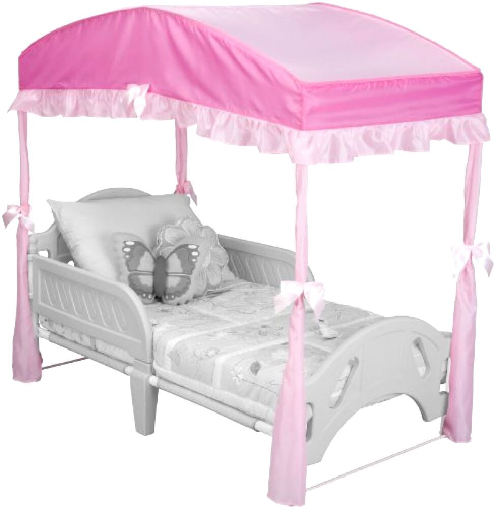 Delta children girls bedroom furniture toddler pink canopy for Canopy bedroom furniture