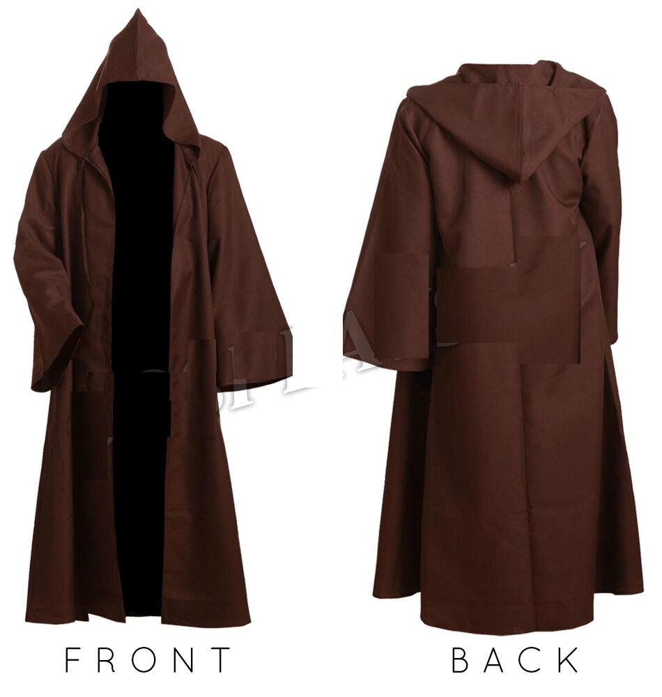 mens monk robe priest friar tuck medieval cloak costume world book day halloween ebay. Black Bedroom Furniture Sets. Home Design Ideas