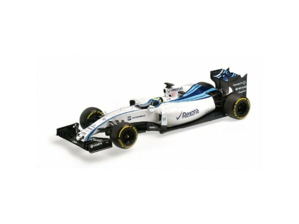 MODELLINO WILLIAMS MARTINI RACING MERCEDES FW37 MASSA ABU DHABI GP 2015 IN RESIN