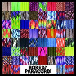 550 Paracord Rope Commercial Type III - 60 More Colors & Patterns!  25-50-100 ft