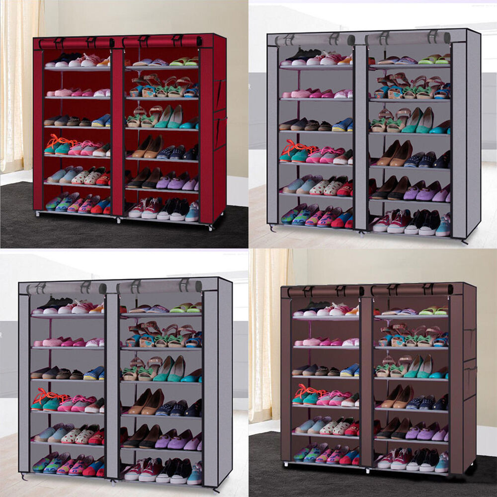 10 Tier 30/50 Pair Space Saving Storage Organizer Free