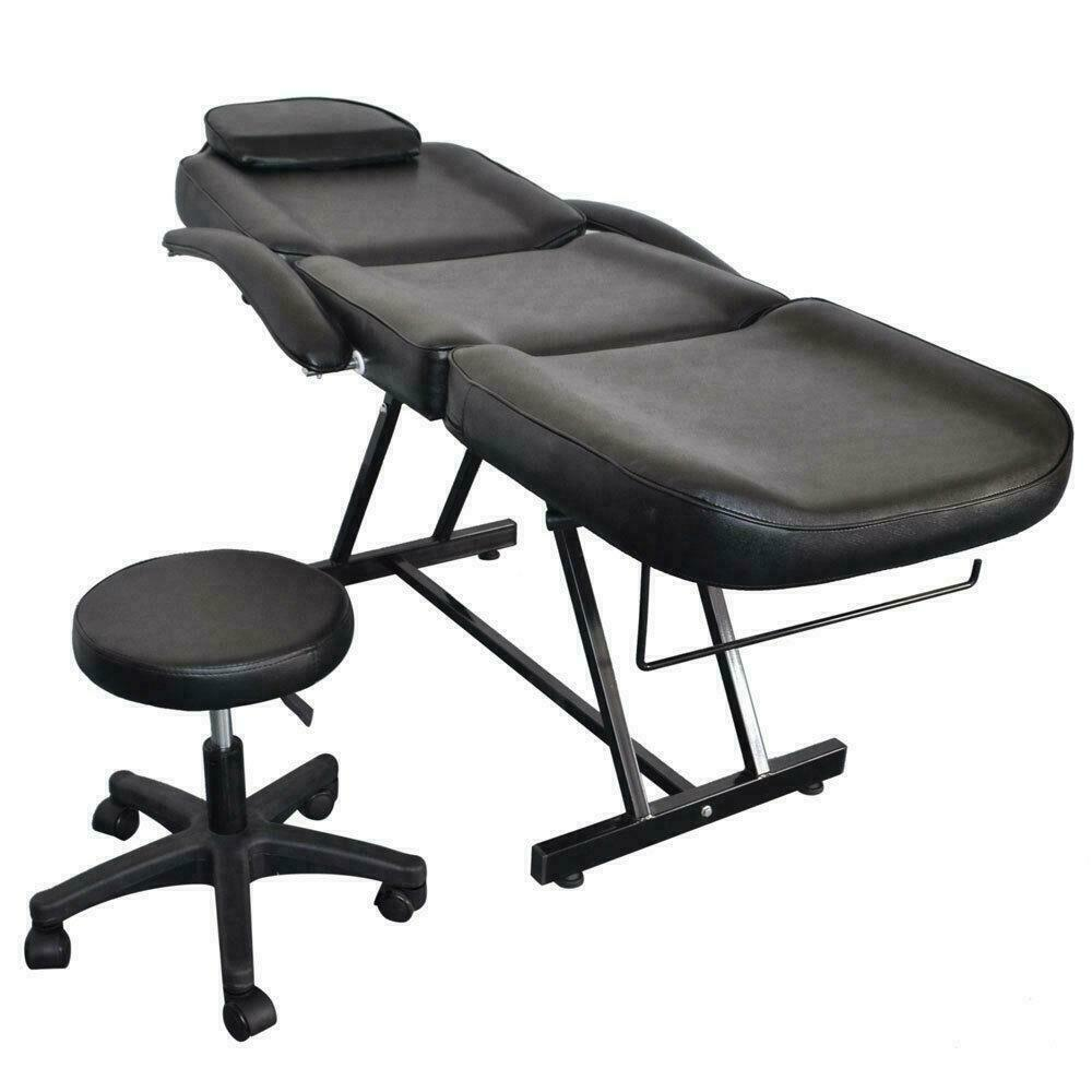 White salon chairs - Adjustable Spa Facial Tattoo Massage Bed Chair Beauty