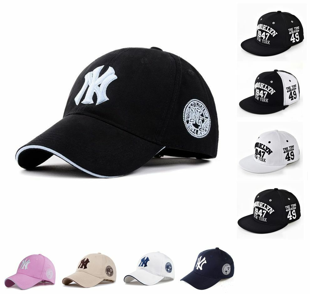 mens womens baseball bboy cap new york yankees cap ny logo. Black Bedroom Furniture Sets. Home Design Ideas