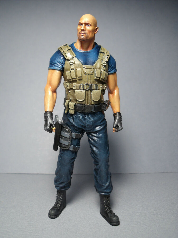 figurine 1 18 fast and furious rock johnson a peindre. Black Bedroom Furniture Sets. Home Design Ideas