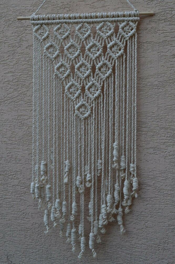 modern macrame patterns home decorative modern macrame wall hanging ebay 2490