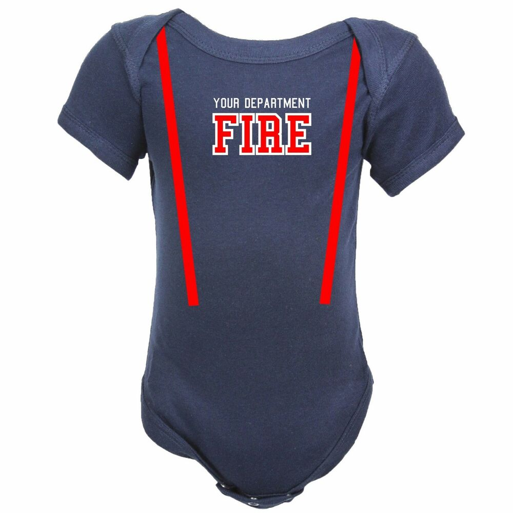 Personalized Firefighter Costume Baby Body Suit Shirt Only Ebay