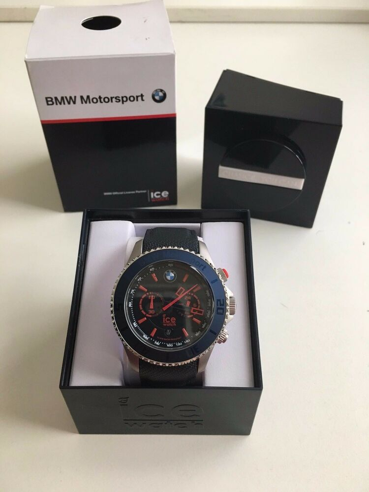 bmw motorsport ice watch chronograph steel blue ebay. Black Bedroom Furniture Sets. Home Design Ideas