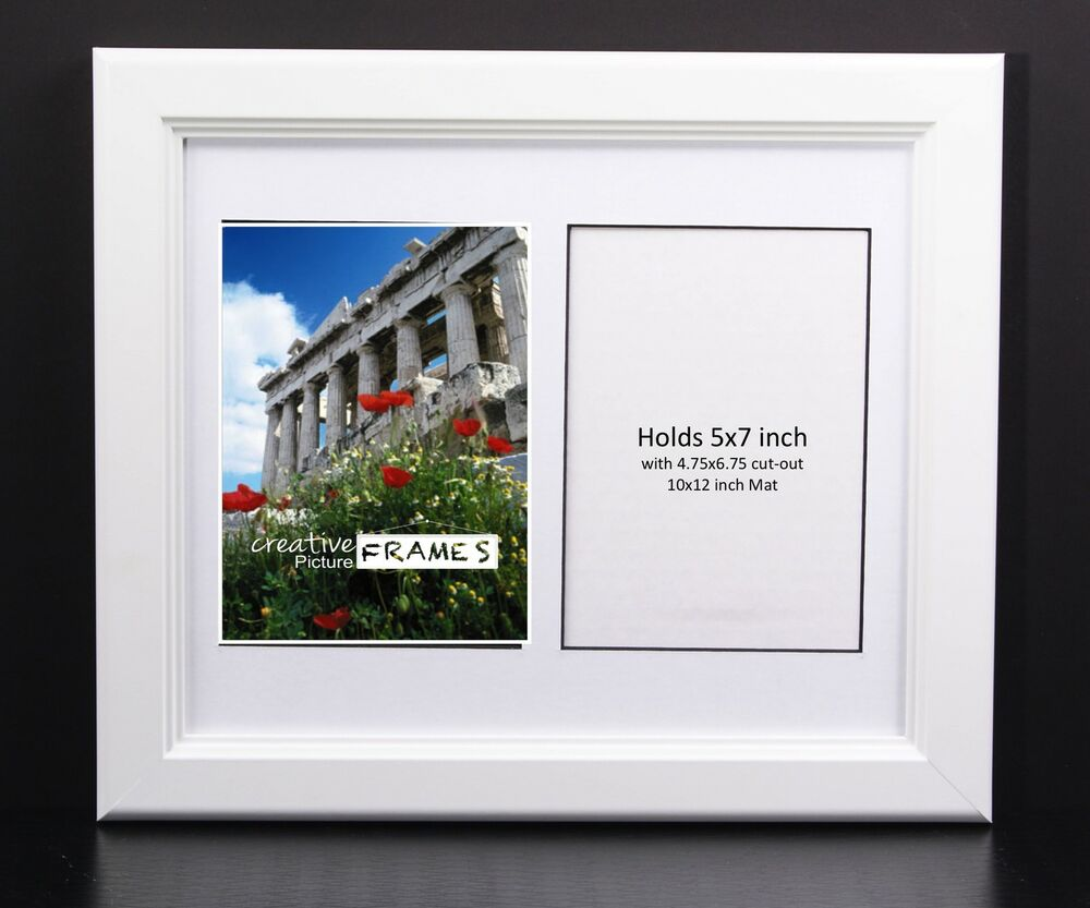 Creativepf 2 Opening Multi 5x7 White Picture Frame W