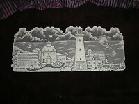 """New White Lace Lighthouse design Table Runner 35"""" x 14"""""""