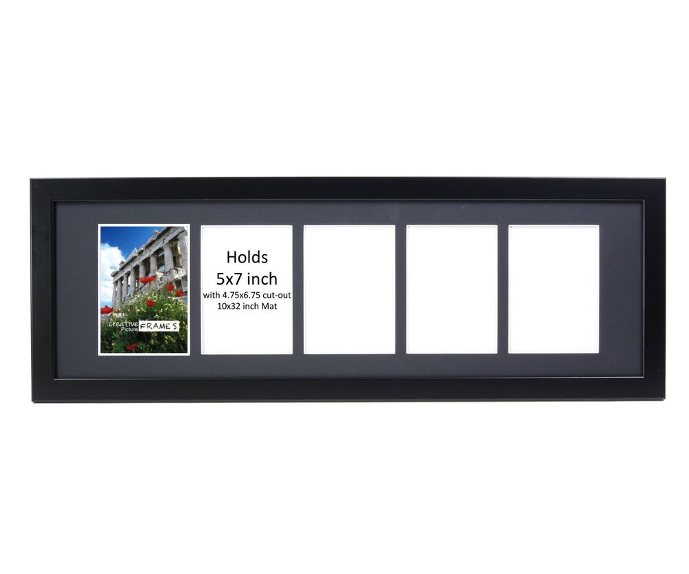 Creativepf 5 Opening Multi 5x7 Black Picture Frame W