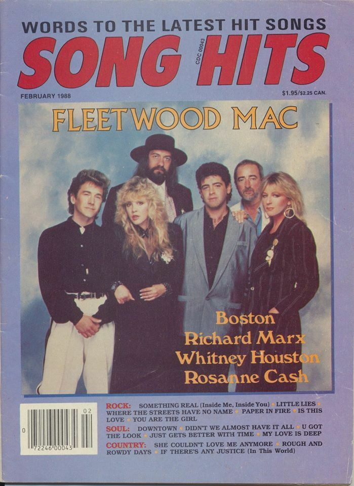 Vintage fleetwood mac song hits february 1988 magazine for 1988 hit songs