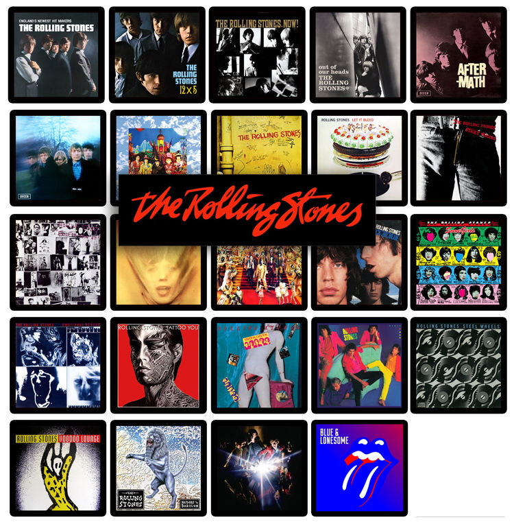 Rolling Stones 24 U S Album Cover Discography Magnets Lot