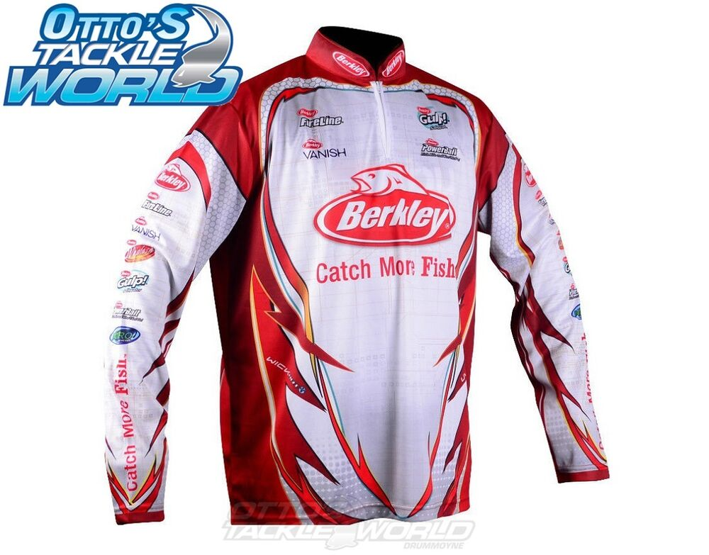 Berkley tournament pro tec jersey fishing shirt all sizes for Professional fishing gear